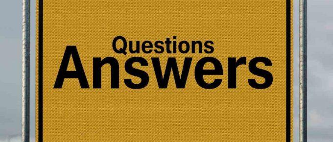 """znak drogowy ze słowem """"answers"""""""